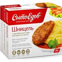 Шницель с картофельным пюре под красным соусом, Сытоедов