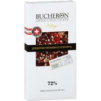 Шоколад Bucheron горький  с миндалем клюквой и фисташками 100 гр.