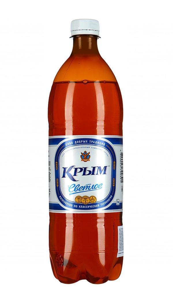 Пиво Крым Светлое фильтрованное 4,4% 1 л.
