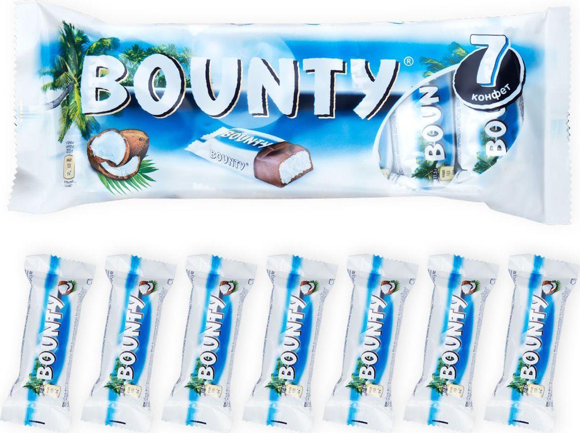 Шоколадный батончик Bounty 7шт.