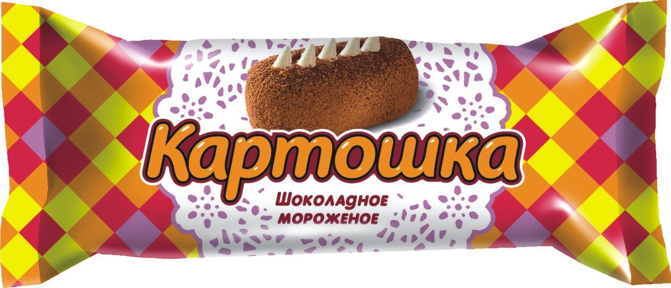 Мороженое Талосто Батончик шоколадный Картошка