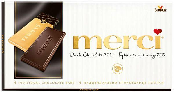 Шоколад MERCI горький 72% 100г