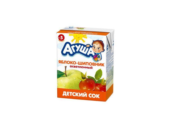 Сок Ладушки яблочно-шиповниковый осветленный для детского питания