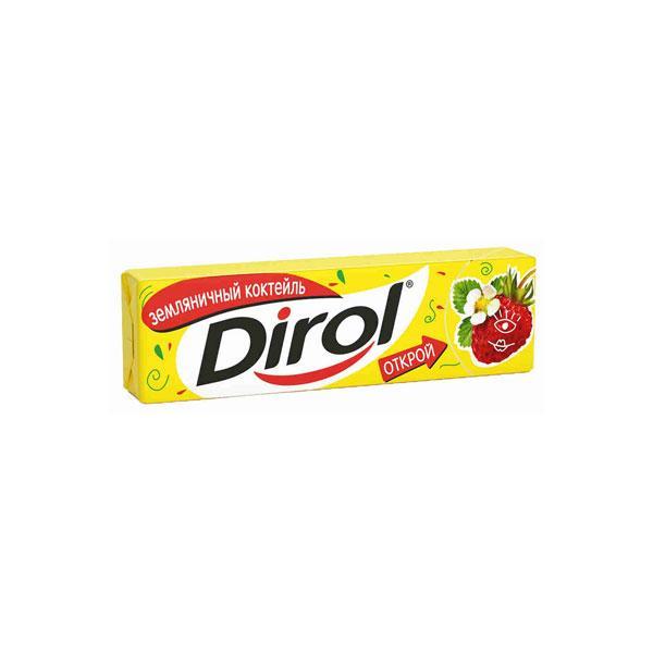 Жевательная резинка Dirol без сахара земляничный коктейль