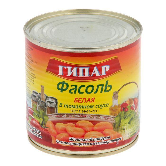 Фасоль Гипар белая в томатном соусе