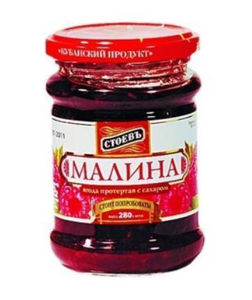 Ягода протертая Стоевъ Малина с сахаром