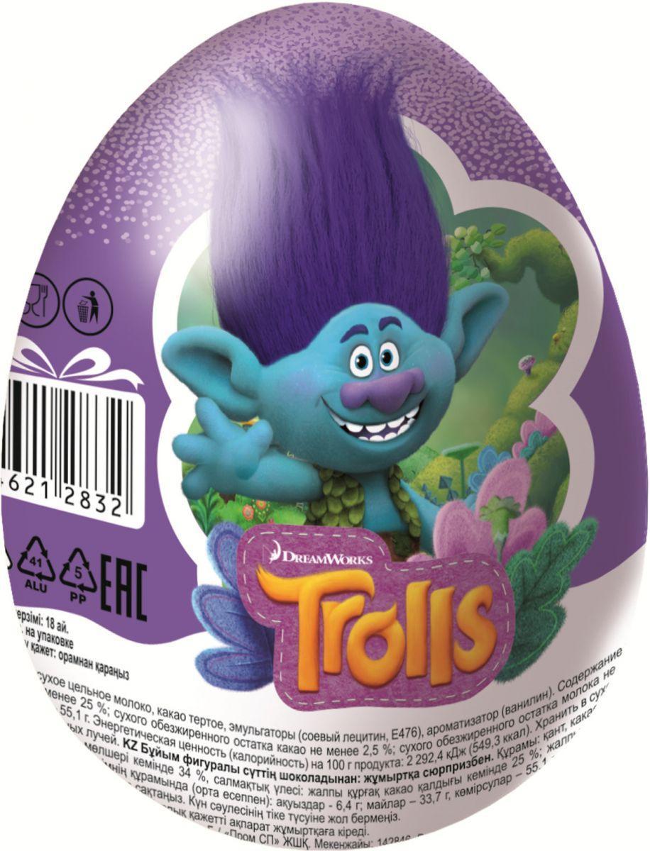 Шоколадное яйцо Конфитрейд Шоки-Токи Trolls с игрушкой