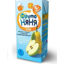 Сок Фрутоняня 200мл ф-27 ябл-гру с мяк