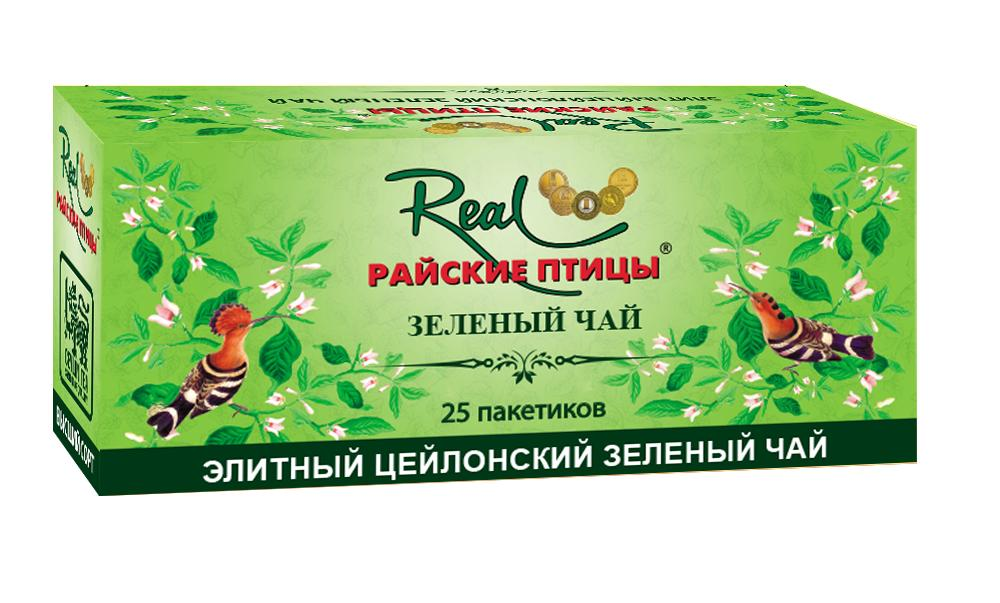Чай Real Райские птицы зеленый в пакетиках