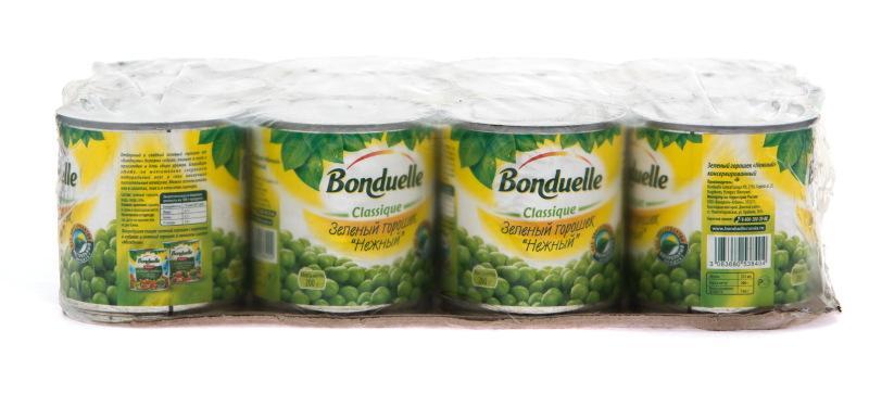Горошек зеленый Bonduelle нежный Упаковка 12шт.