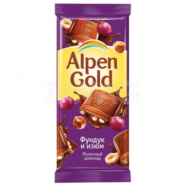 Шоколад Альпен Голд фундук/изюм
