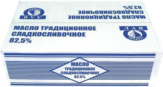 Масло Лав Продукт традиционное 82,5% сладкосливочное несоленое