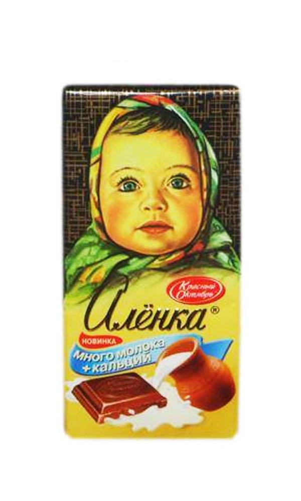 Шоколад Красный Октябрь Алёнка Много молока