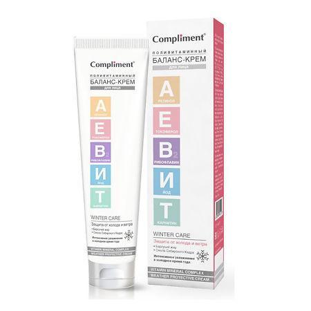 Баланс-Крем для лица поливитаминный, Compliment Аевит, 75 мл., картонная коробка