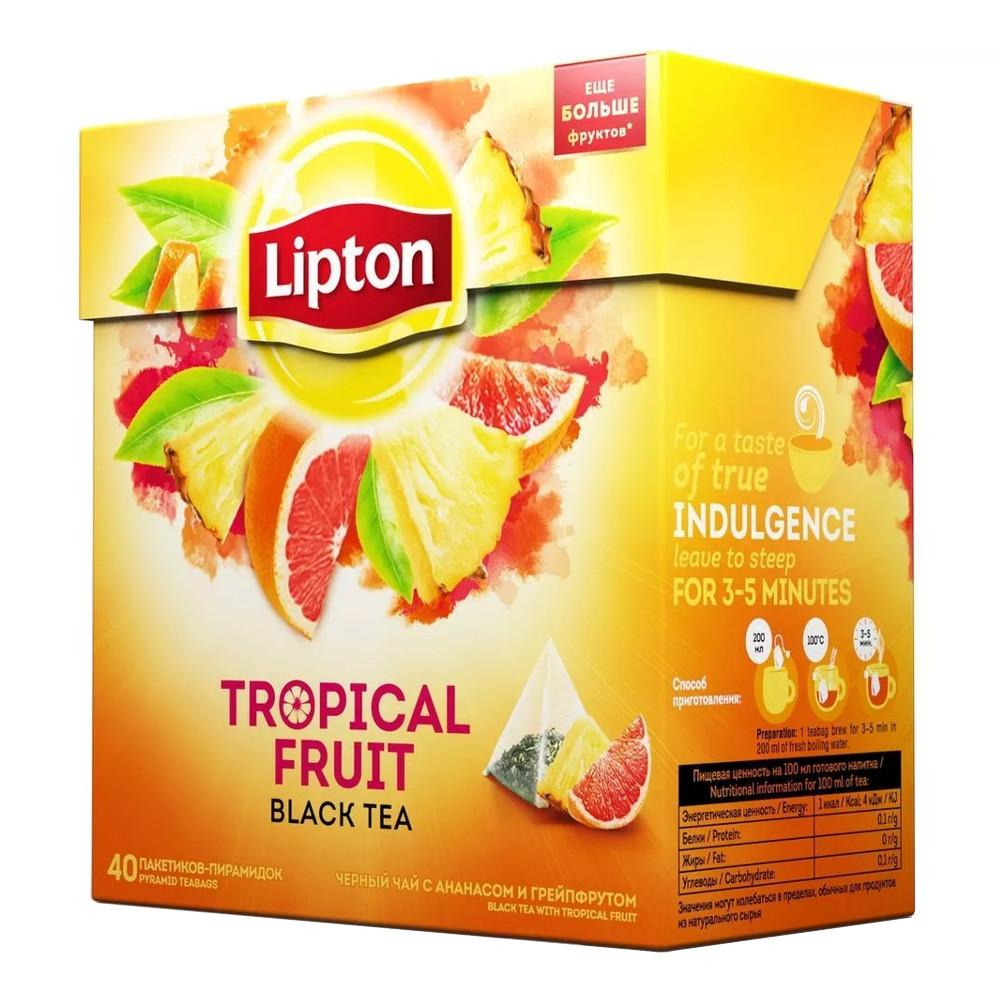 Чай черный Lipton Tropical Fruit 40 пирамидок