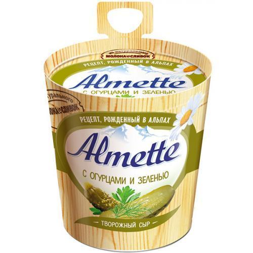 Сыр Almette творожный с огурцами и зеленью 60%