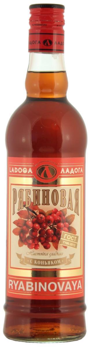 Настойка сладкая Рябиновая с коньяком, Россия