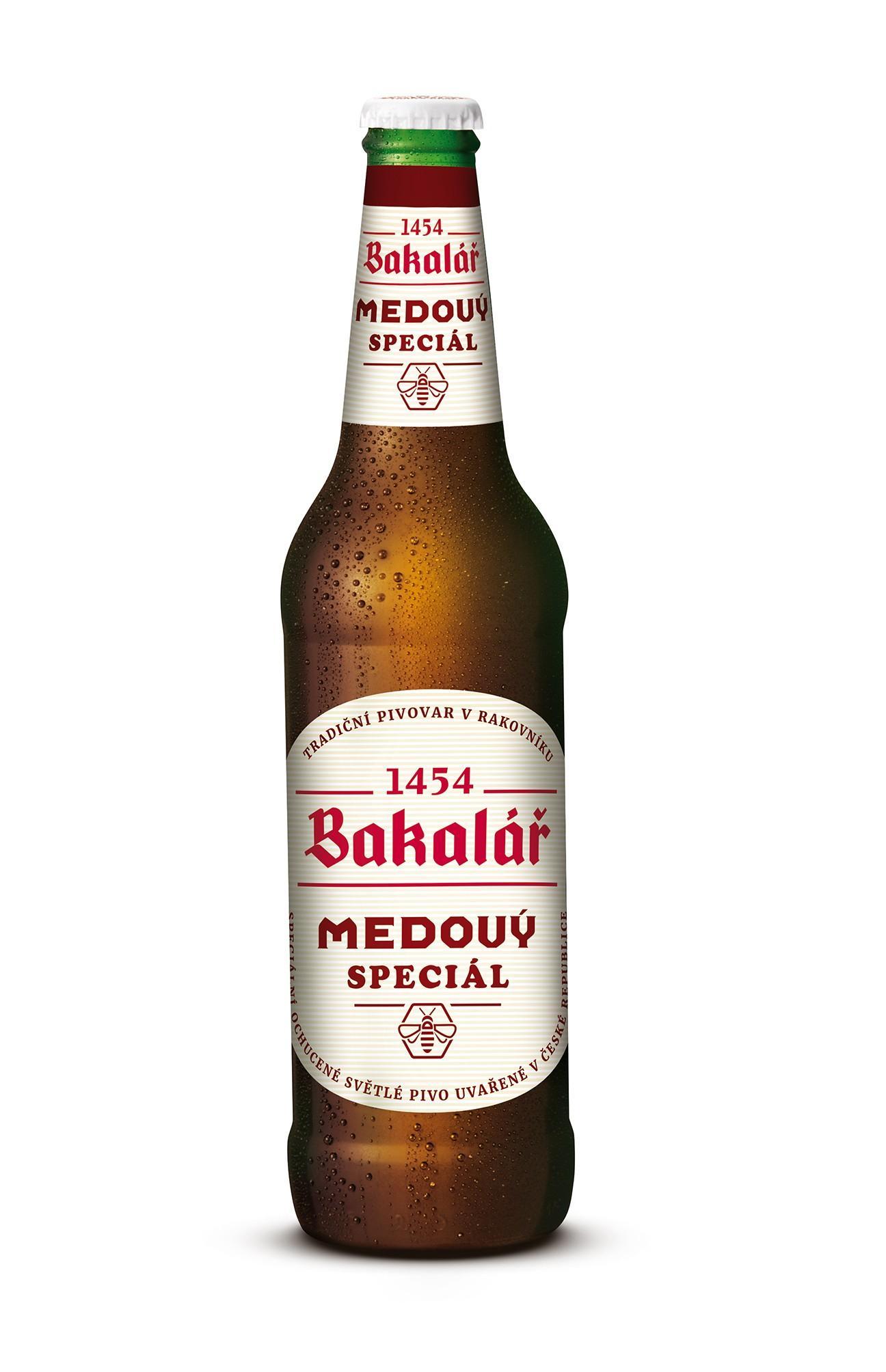 Пиво Bakalar Medovy Lager светлое фильтрованное 5,8%