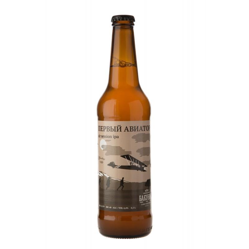 Пиво Бакунин Первый авиатор светлое непастеризованное нефильтрованное 4,4%