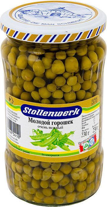 Горошек Stollenwerk Зеленый молодой очень нежный