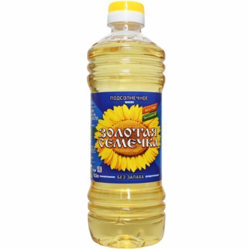 Масло подсолнечное Золотая Семечка рафинированное дезодорированное