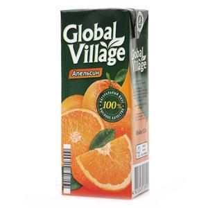 Нектар Global Village Апельсин 0,2 л.