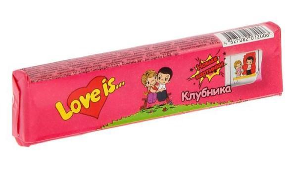 Жевательная резинка Love Is со вкусом клубники