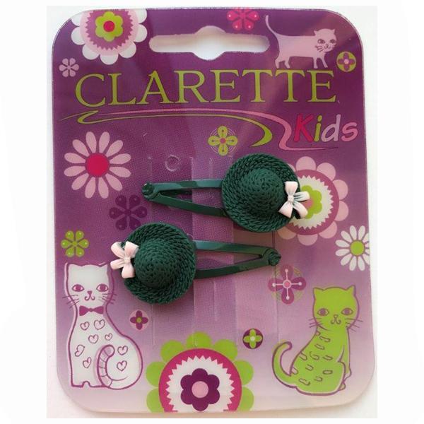 Заколка для волос клик-клак Clarette Шляпка 2шт.