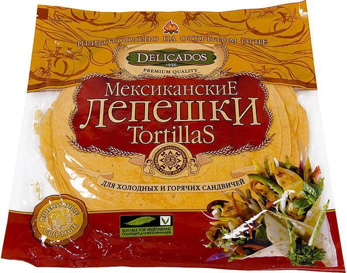 Лепешки Тортильи Delicados пшеничные томатные
