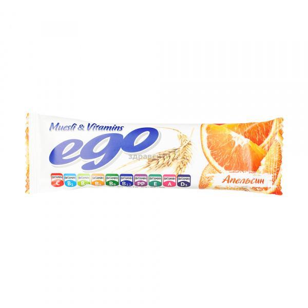 Батончик мюсли Ego апельсин с витаминами