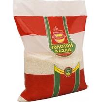 Рис Золотой казан круглозерный шлифованный белый 5 кг