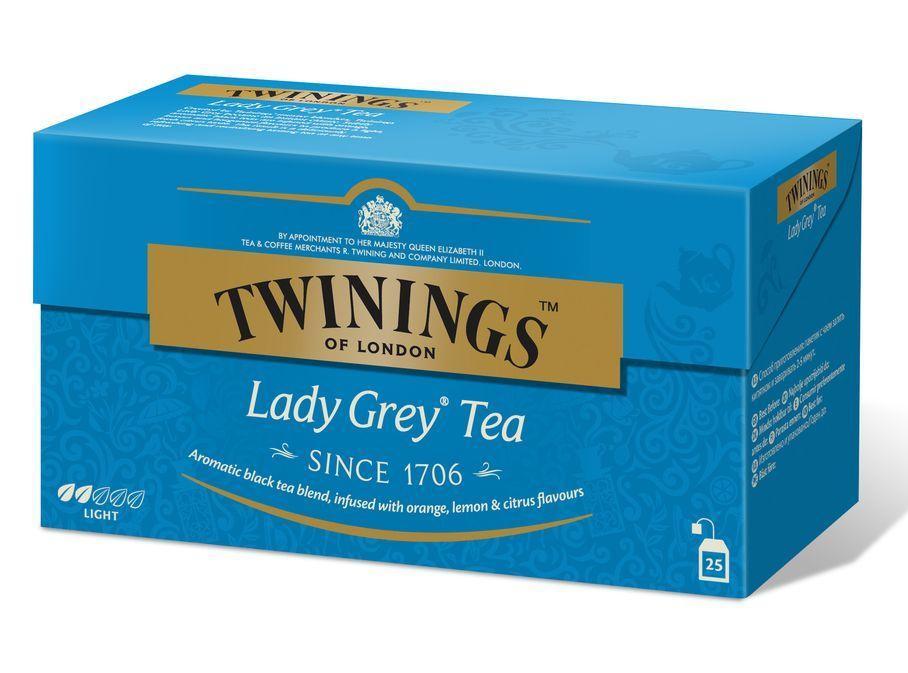 Чай Twinings Lady Grey Tea черный ароматизированный в пакетиках 25 пак