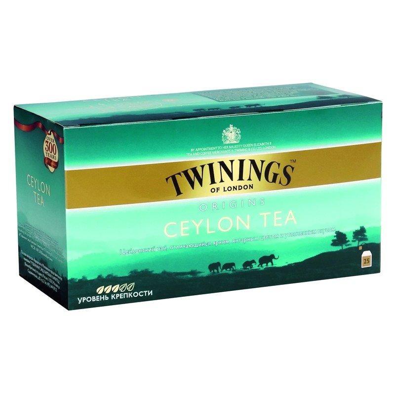 Чай Twinings черный байховый цейлонский,25 шт