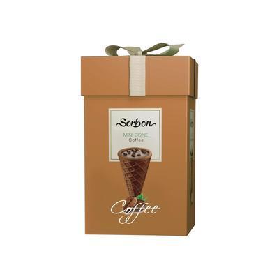 Мини рожок Sorbon с начинкой из шоколада и шипучкой