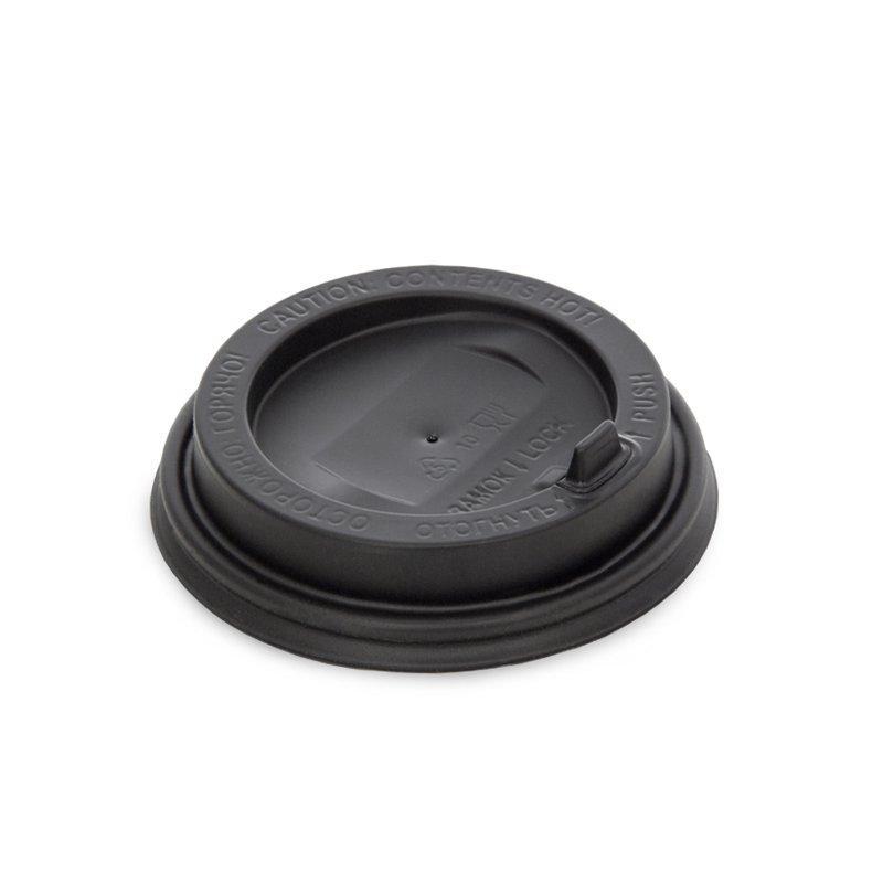 Крышка для гор. напитков с откидным питейником 90 мм, черная матовая