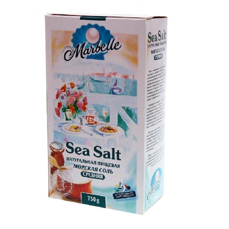 Соль Marbellе морская средняя