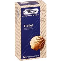Презервативы Contex Relief С ребрами и точками для дополнительной стимуляции 12шт.
