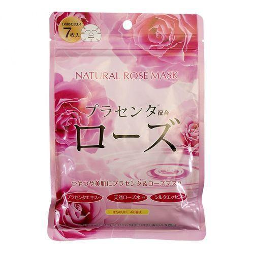 Курс натуральных масок Japan Gals для лица с экстрактом розы