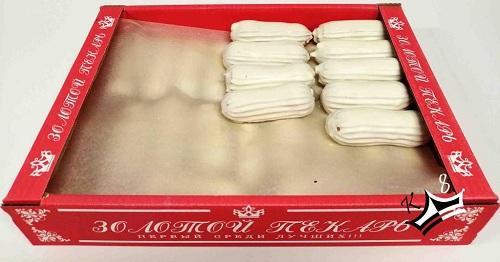 Пирожное Золотой пекарь КФ Эклер в белой глазури