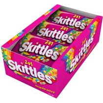Жевательное драже Skittles 2в1 с фруктовым соком 38 гр.