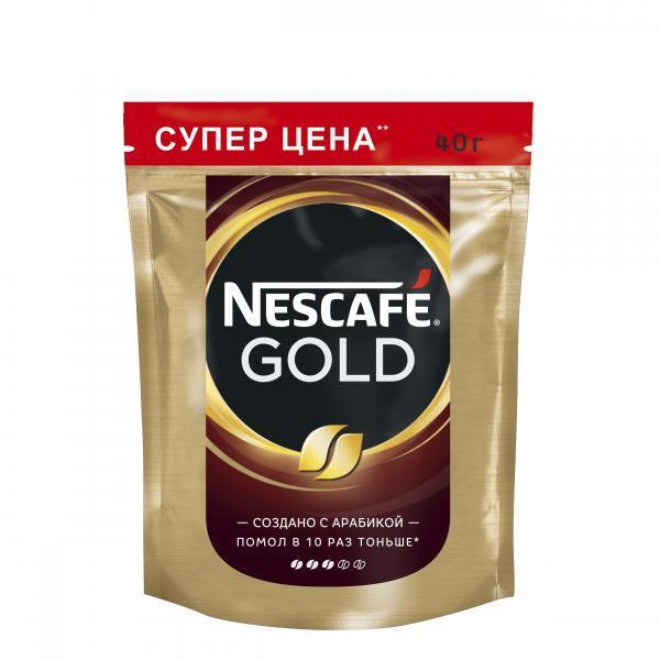 Кофе Nescafe Gold 100% растворимый