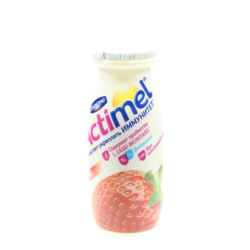 Кисломолочный напиток Actimel 1,5% Клубничный