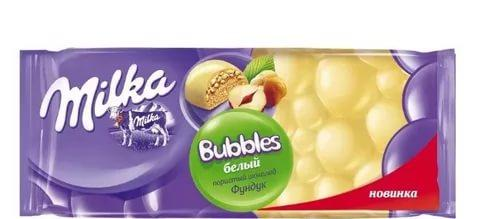 Шоколад Milka Bubbly White 95 гр.