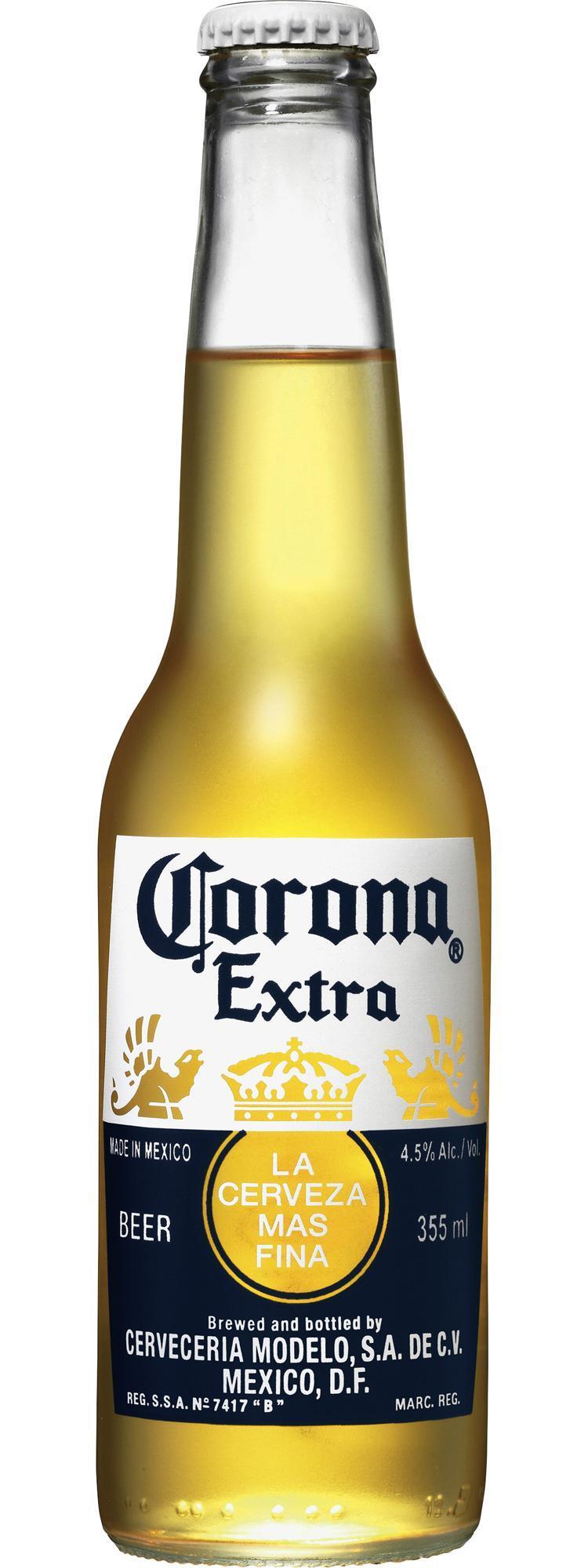 Пивной напиток Corona Extra светлое пастеризованное фильтрованное в стекле 4,5%, 355мл