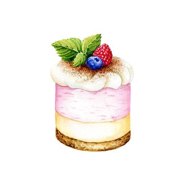 Пирожное Слоянка Молочная бирюза в розовом с нежным кремом