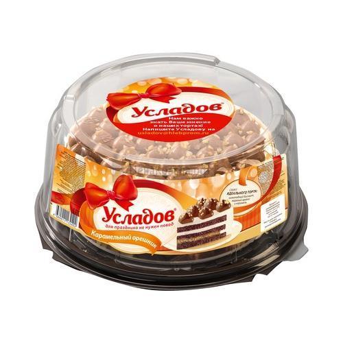 Торт бисквитный Усладов Карамельный орешник