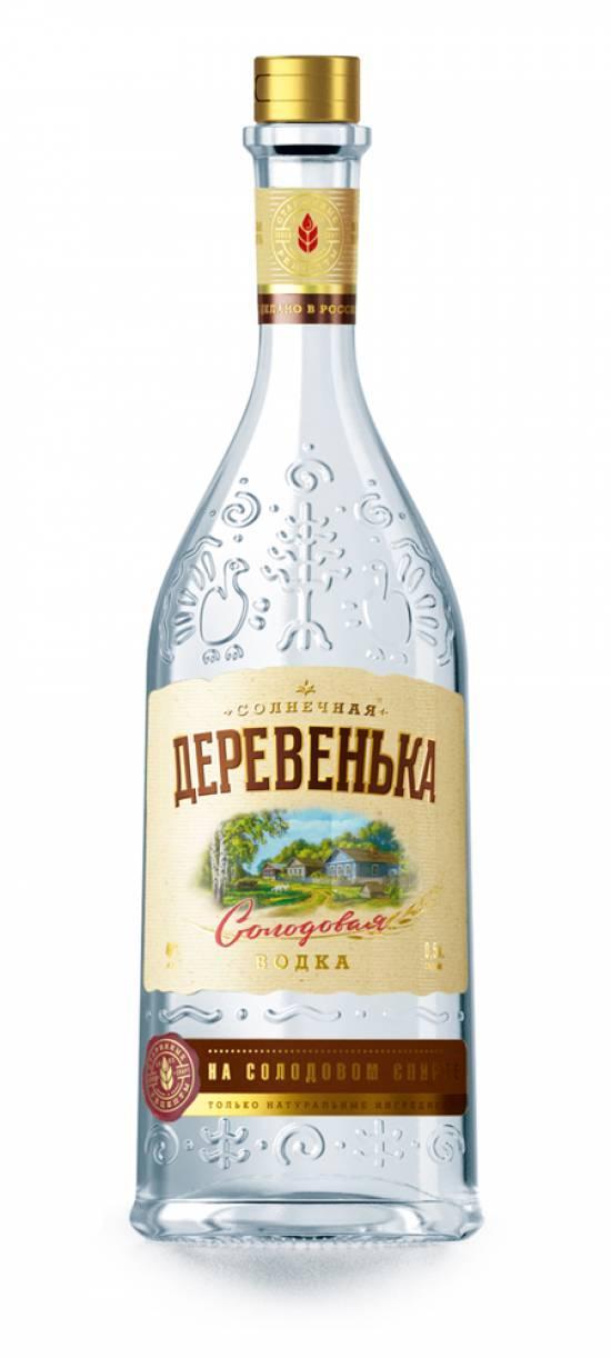 Водка Солнечная Деревенька на солодовом спирте Альфа 40%