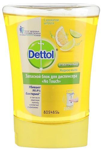 Жидкое мыло DETTOL с ароматом цитруса, запасной блок для диспенсера 250мл