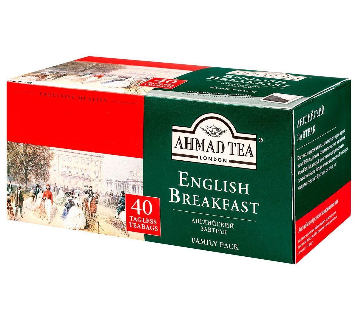 Чай Ahmad Tea English Breakfast черный 40 пак.