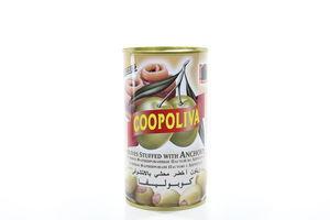 Оливки Coopoliva фаршированные пастой из анчоуса